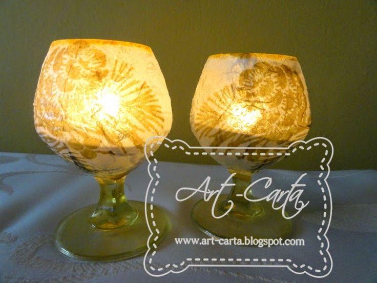Lampiony z kieliszków ()930