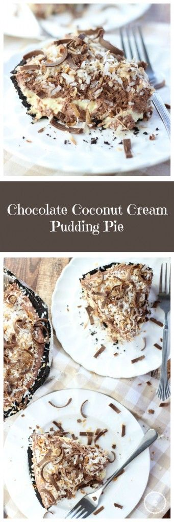 no bake chocolate coconut cream pie pin.   THIS SOUNDS WONDERFUL!!!