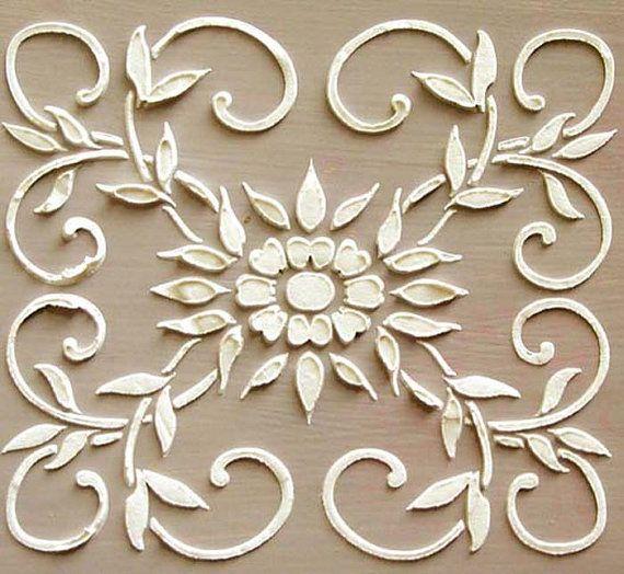 Raised Plaster Barrington Frieze Stencil by ElegantStencils