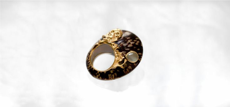 Shagreen & Tortoise-français bague coquillage - shell ring