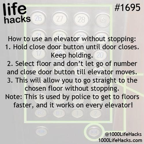Elevator tricks