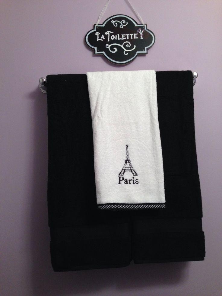 Black And White Towels Paris Paris Theme Bathroom Pinterest Towels And Paris Bathroom