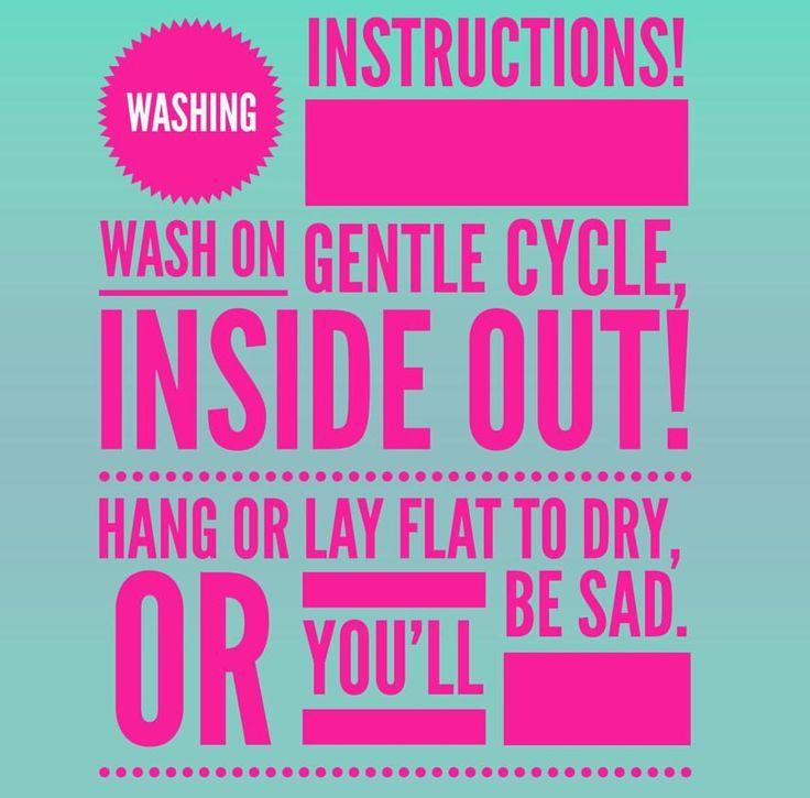 Washing instructions www.lularoejilldomme.com