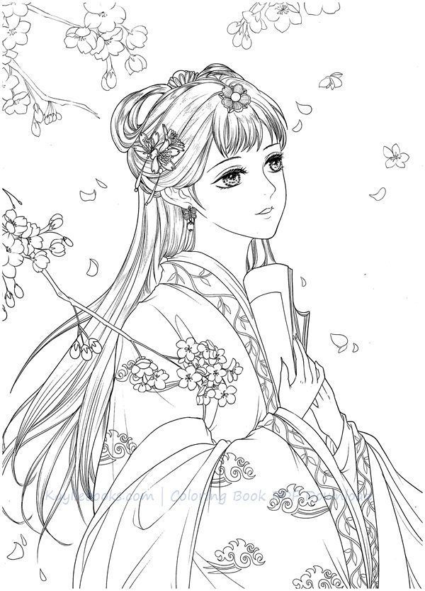 Download Dadacat Chinese Portrait Coloring Book Coloring Books Disney Princess Coloring Pages Cute Coloring Pages