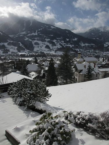 The snow is back!  Balcony view #Schruns 26th Jan. 2014