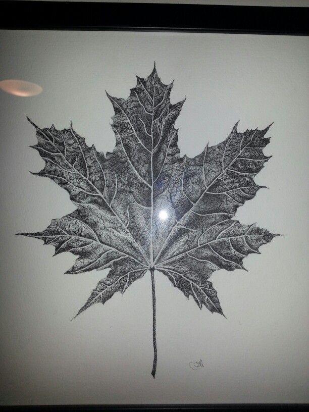Leaf stippling. 24 hours of work.