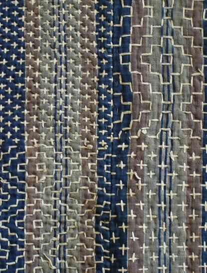 Sashiko Kotatsushiki: alternating persimmon pattern