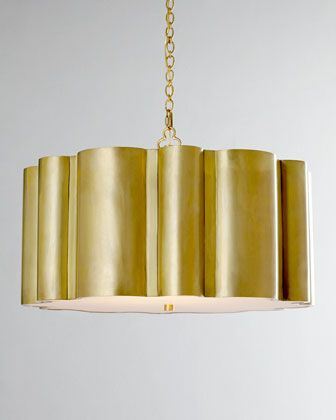 Brass design trend VISUAL COMFORT Markos Pendant Light - Horchow