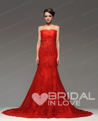 A Line Fashion Sweetheart Floor Length Court Train Lace