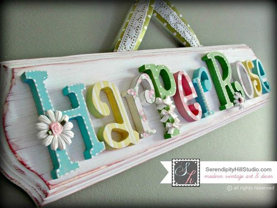 Custom name plaque  made to order wall by SerendipityHillShop, $105.00