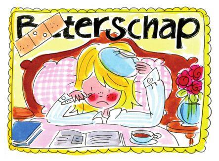 Een meisje ziek in bed- Greetz