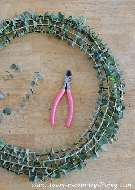 Tutorial for making a eucalyptus wreath                                                                                                                                                      More