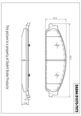 Disc Brake Pad-semi Metallic Pads Front Dash 4 Brake Md1070 #car #truck #parts #brakes #brake #pads #shoes #md1070