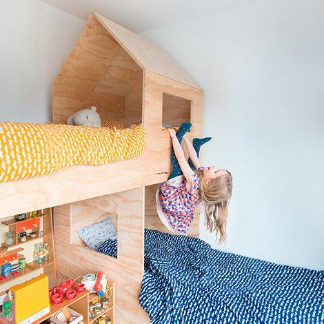 Hochbett Sperrholz - Plywood house bed -