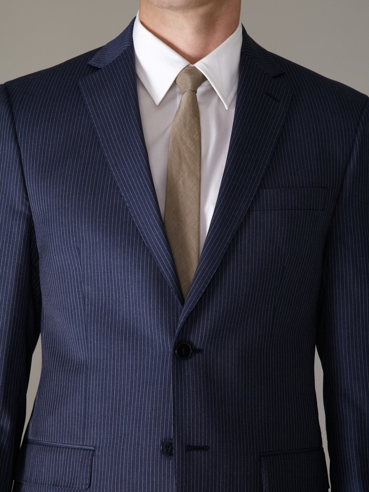 Pinstripe Blue Suit My Dress Tip