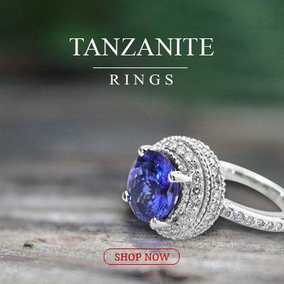 #tanzanite engagement jewelry and #wedding_ring