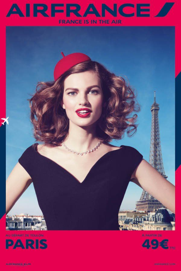 air france travel 2014 campaign4 Air Frances New Campaign Takes You on a Fashionable Tour
