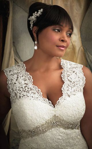 #NewYorkDress Blog // Plus Size #Wedding Dresses // Click on the photo for more lovely options! // Dress: #MoriLee 3131