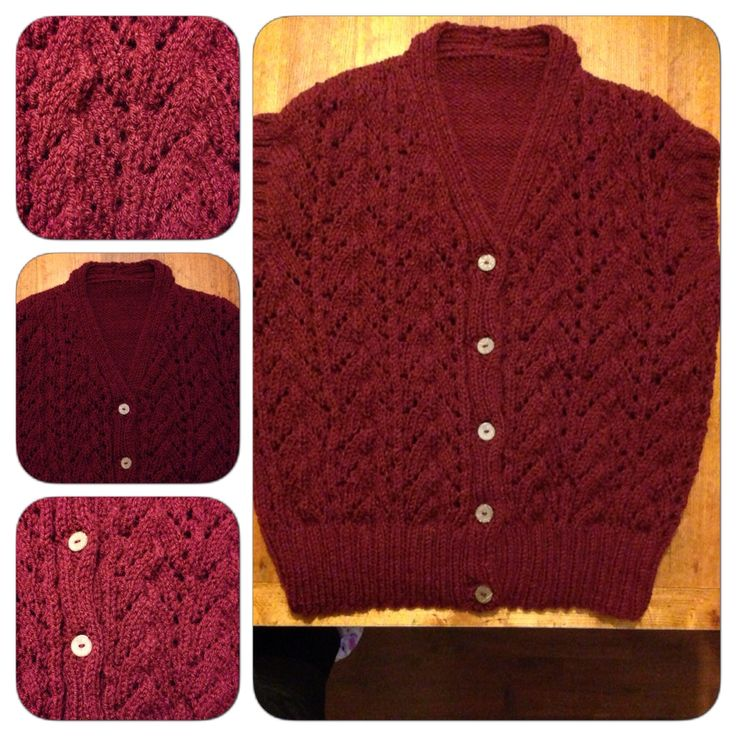 Palillos: Chaleco rojo / Knitting: A red vest