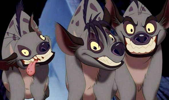 "Shenzi: ""Tell me about it. I just hear that name and I shudder."" Banzai: ""Mufasa!"" Shenzi: ""Ooooh! Do it again!"" Banzai: ""Mufasa!"" Shenzi: ""Ooooh!"" (Shenzi, Banzai, and Ed)"