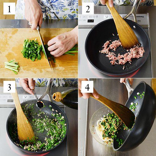にらそばのレシピシンプルな材料と簡単な手順で人気の、料理家・フルタヨウコさんに教わる定番レシピの連載です。今回ご紹介するのは「フライパンひとつ」で作れる、にらそばのレシピ。材料はたったの5つだけ。具材
