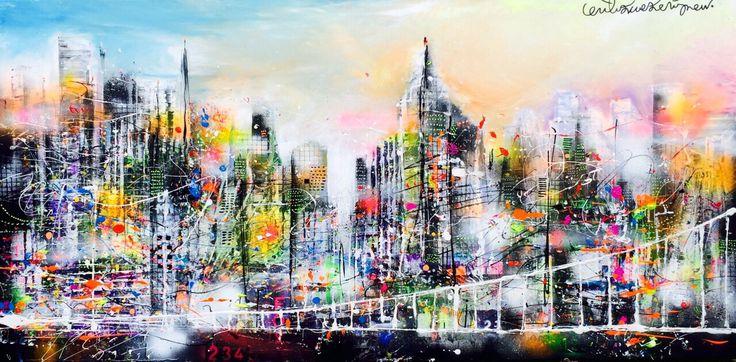 """New York Spring"" 80 x 160 cm. www.erikzwezerijnen.com"