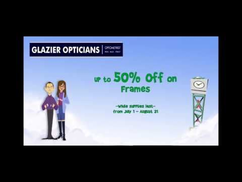 50% off selected frames at Glazier Opticians