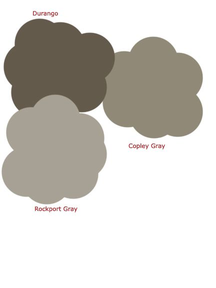 A trio of grays from Benjamin Moore