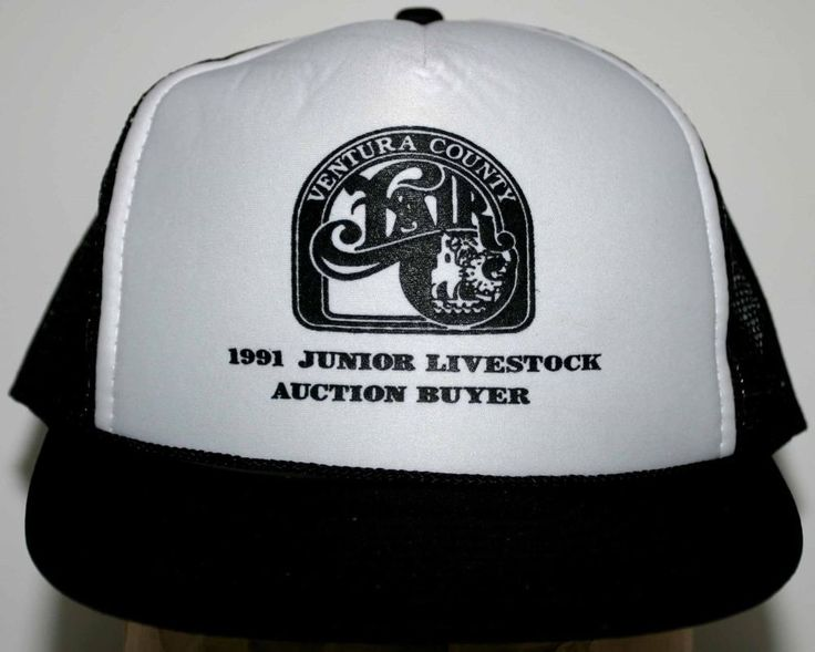 VENTURA COUNTY FAIR 1991 JUNIOR LIVESTOCK AUCTION BUYER CAP Size Adjustable
