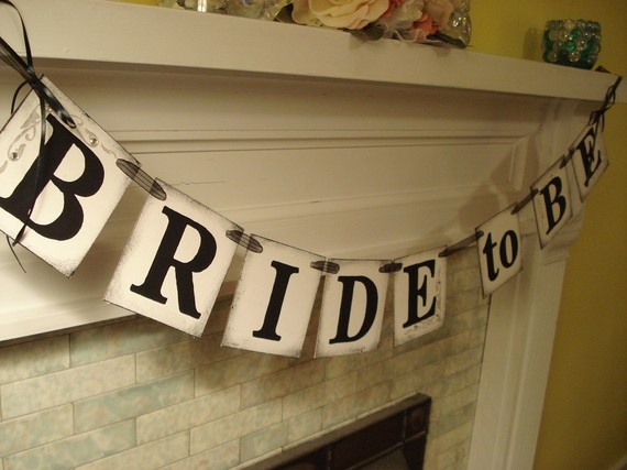 bridal shower banner love this would probably we pretty easy to make