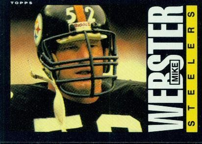 Mike Webster steller football card   ... 365 Mike Webster - Pittsburgh Steelers (Football Cards) at Amazon.com