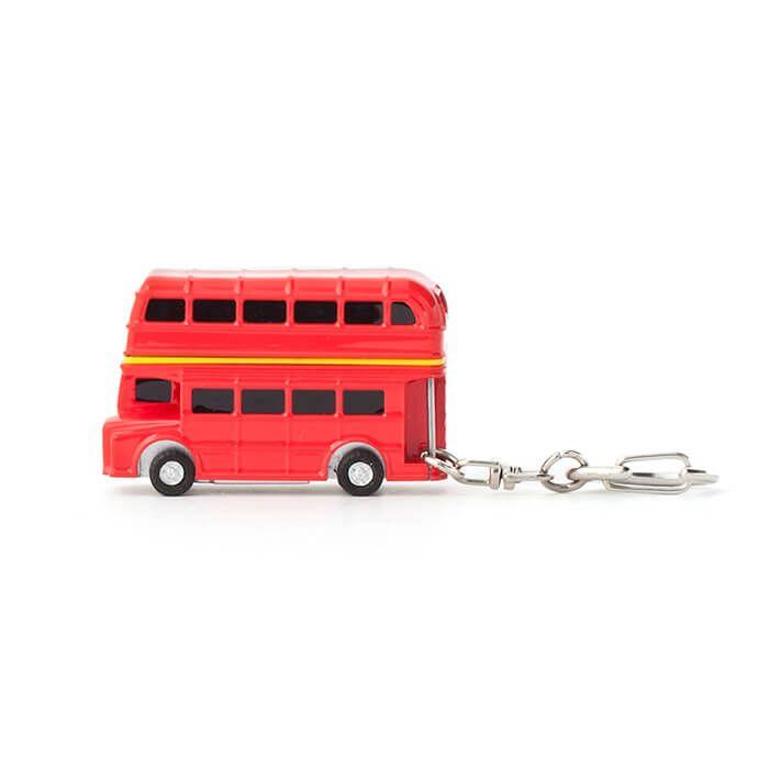 Dubbeldekker bus sleutelhanger met geluid | Unieke cadeaus voor hem en haar van Kikkerland verkrijgbaar bij 100% CADEAU