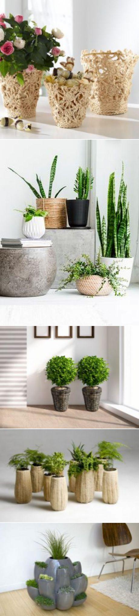 Кашпо для цветов в интерьере - фото примеров