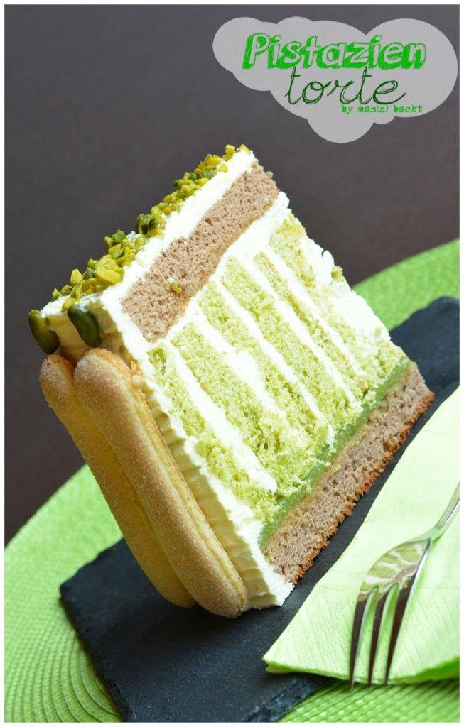 Pistazienkuchen oder grüner gestreifter Glückmoment   – Kochen