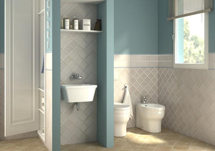 Bagno lavanderia con guardaroba.  Progetta il tuo Bagno ...