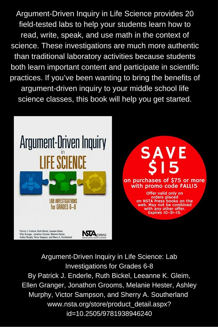 228 best what science teachers are reading images on pinterest argument driven inquiry in life science lab investigations for grades 6 8 http fandeluxe Choice Image