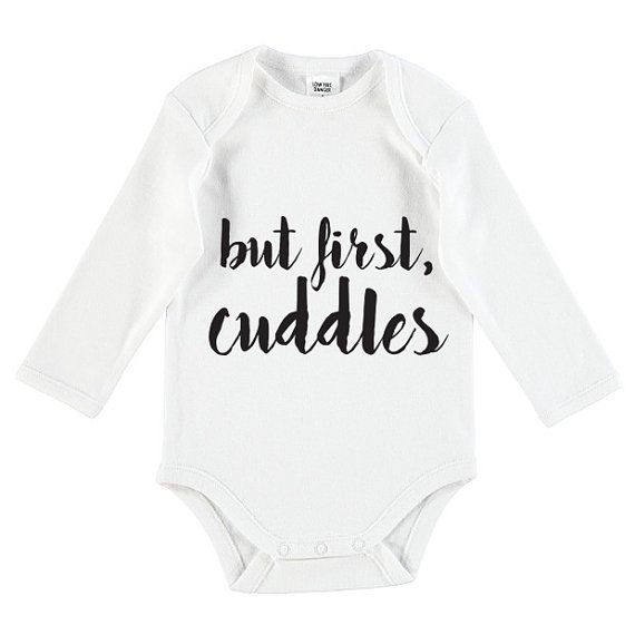 But First Cuddles Onesie Baby Onesie by TheUniqueCo on Etsy