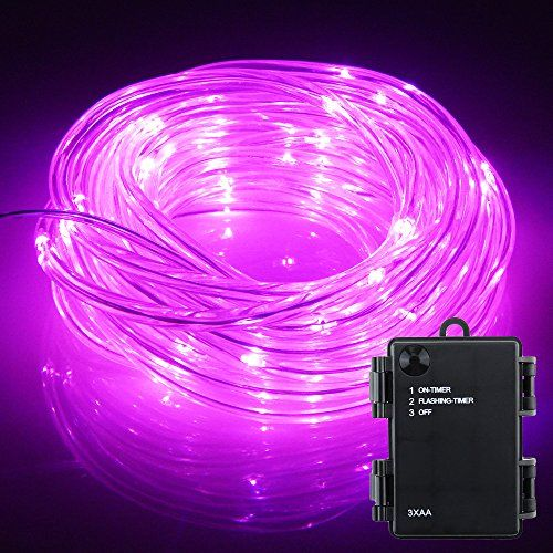 1387 best christmas rope lights images on pinterest rope er chen solid tube led fairy string lights 50 leds battery operated waterproof string rope lights with timer for christmas party wedding holidays indoor and aloadofball Gallery