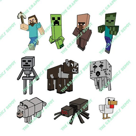 Minecraft SVG & PNG files  Instant Download  by TheGraphicsDepot