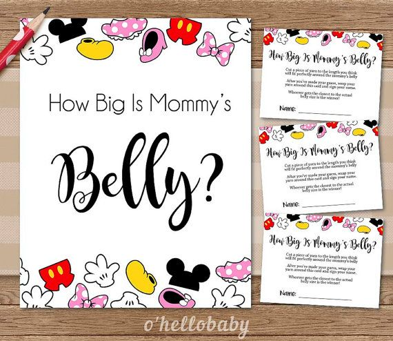 How Big Is Mommyu0027s Belly Baby Shower Game Disney Theme   Disney Baby Shower    Gender Neutral Baby Shower   005