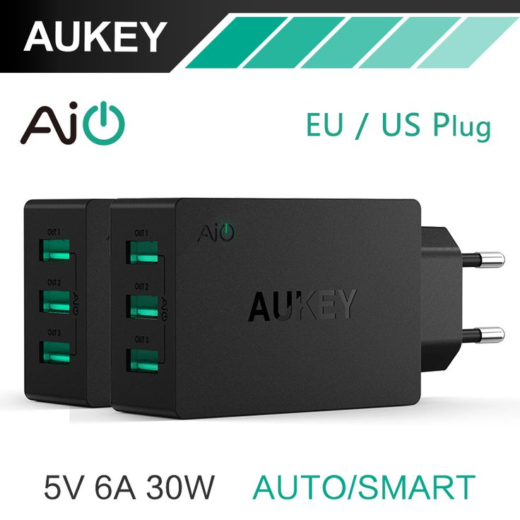 Aukey 5V6A Universal 웃 유 Travel USB Charger Adapter EU 【ᗑ】 US Plug Wall Mobile Phone Smart Charger for iPhone Tablet Xiaomi Red HTC SONYAukey 5V6A Universal Travel USB Charger Adapter EU US Plug Wall Mobile Phone Smart Charger for iPhone Tablet Xiaomi Red HTC SONY