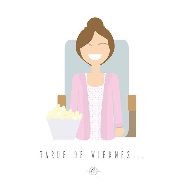 Tarde de sofá, mantita y series #plandeviernes #quefriohace #peliymanta #tardedeviernes  #illustrator #graphicdesign #vector #adobeillustrator #flatdesign #vectorart