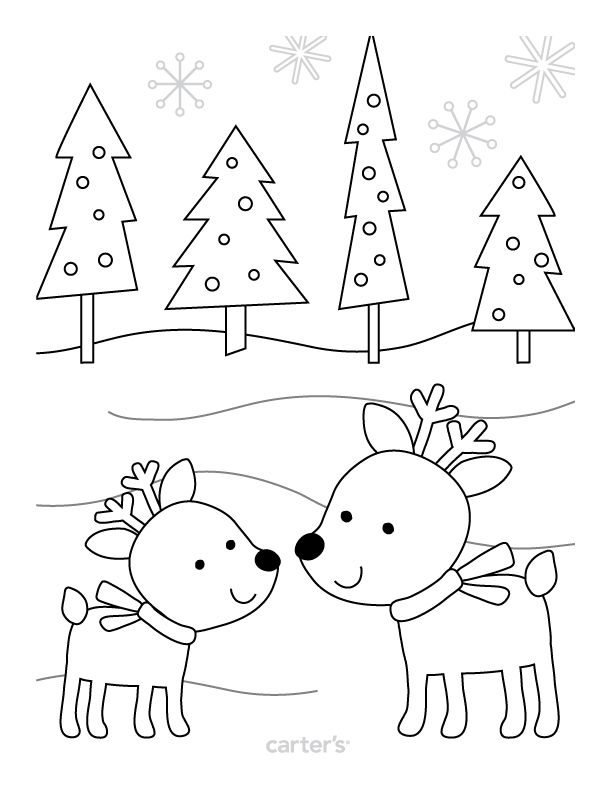 Free printable coloring page from Carter's. #CartersHoliday