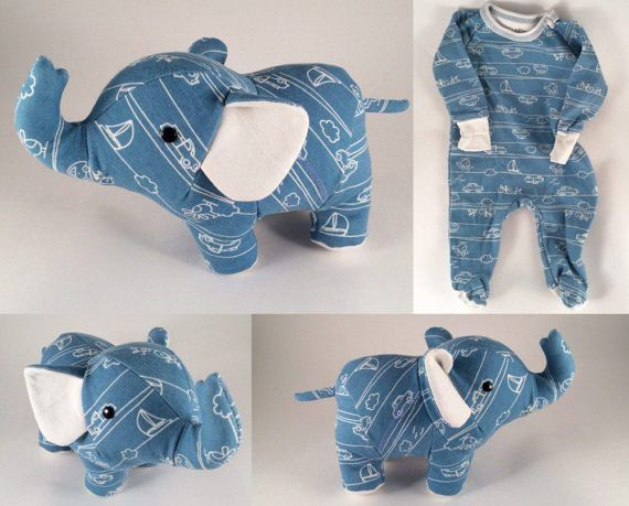 elephant teddy bear story 2 ~~~ sewing little stuffed animals out of baby's onsies pj's