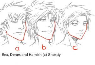 how to draw manga males, draw anime males step 3