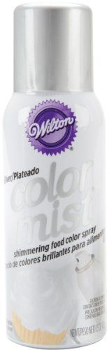 Metallic Color Mist Spray-Silver by Wilton. $7.29. Metallic Color Mist Spray-SilverWILTON-Metallic Color Mist Food Spray. The same great Color Mist spray you love now in metallic finish! This easy-to-use spray gives decorators the versatility and dazzling effects of an airbrush in a convenient can! Create a rainbow of excitement for so many desserts. Use it to transform a plain iced cake with sensational color or add splashes of holiday color to iced cookies and cupcakes. Great ...