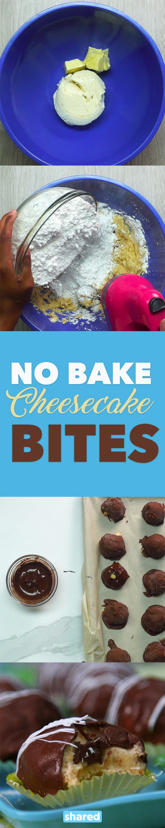 No Bake Cheesecake Bites