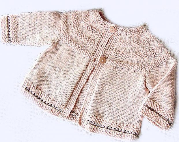 Princess Charlotte cardi: Baby Jacket by OGE Knitwear on the LoveKnitting blog