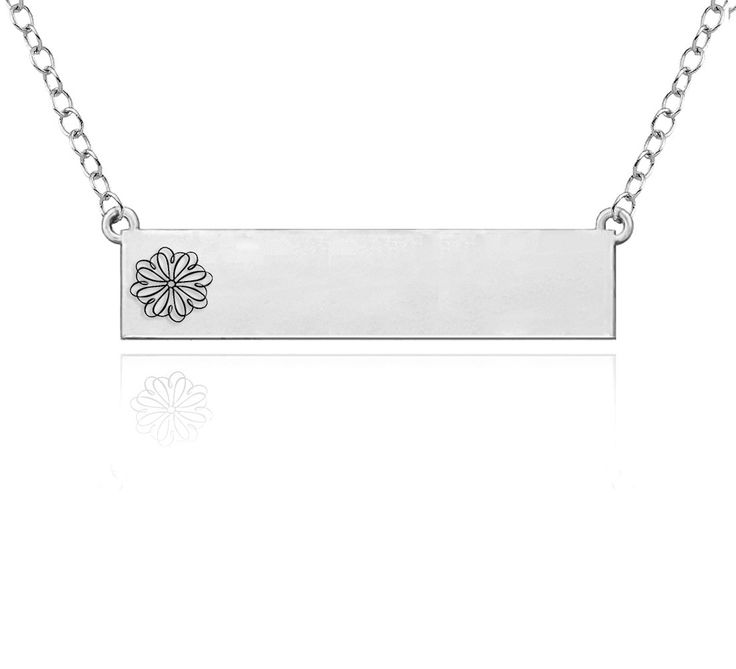Sigma Kappa Symbol Sterling Silver Bar Style Necklace