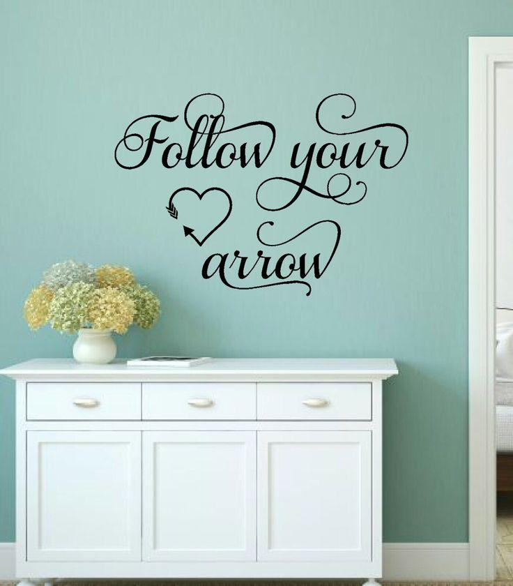 Follow Your Arrow Wall Decal Arrow Vinyl Decal Girl Wall Decal Teen Wall  Decal Bedroom Vinyl Decal Wall Quote Decal Arrow Saying Decal